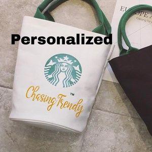 Starbucks Tote Bag, Purse, Personalized